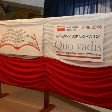 """Narodowe Czytanie  """"Qvo Vadis"""" Henryka Sienkiewicza w """"Baczyńskim""""."""