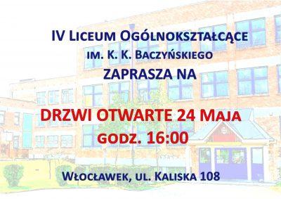 Zapraszamy na Drzwi Otwarte IV LO 24 maja o godz. 16.00