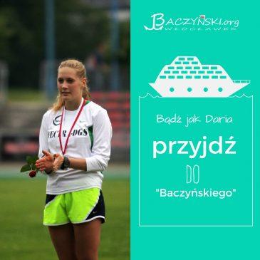 Absolwent naszą wziytówką- Daria Gawłowska (rocznik 2014); mulitimedalistka Mistrzostw Polski