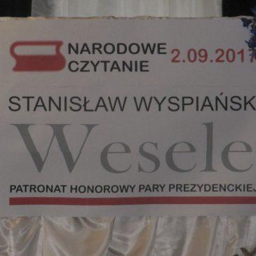 """Narodowe Czytanie  """"Wesela"""" Stanisława Wyspiańskiego w """"Baczyńskim""""."""