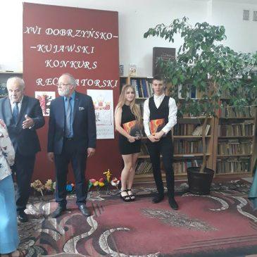 Licealiści laureatami Dobrzyńsko- Kujawskiego Konkursu Recytatorskiego w Karnkowie