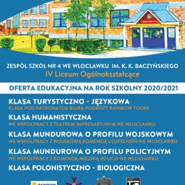 Nabór do klas pierwszych na rok szkolny 2020/2021